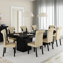 Solid Wood Sutton Rustic Block Double Pedestal Dining Room Table