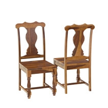 Oroville Rustic Solid Wood Extendable Dining Table Chair Set Furniture