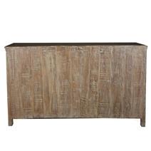Weathered Rustic Reclaimed Wood Shutter Door Large Sideboard Cabinet