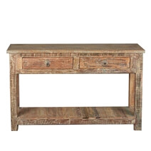 Rustic Reclaimed Wood Naturally Distressed Hall Console Table