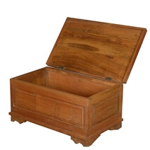 Shaker Traditional Teak Wood Standing Coffee Table Chest