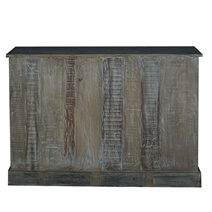 Malibu Distressed Reclaimed Wood Apothecary Cabinet With 16 Drawers