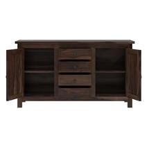Houston Rustic Solid Wood 4 Drawer Sideboard