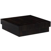 Solid Wood Square Contemporary Platform Unique Coffee Table