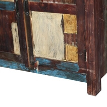 Grandpa's Attic Rustic Reclaimed Wood Large Sideboard Buffet Cabinet