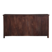 Grandpa's Attic Rustic Reclaimed Wood Large Sideboard Buffet Cabinet