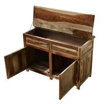 Wilmot Unique Solid Wood Lift Top Storage Buffet Cabinet