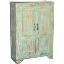 Julian Rustic Reclaimed Wood Handcrafted Storage Cabinet