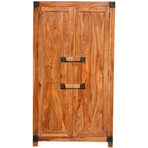 Princeton Solid Wood Bedroom Armoire Wardrobe With Shelves And Drawers