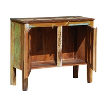 New Memories Reclaimed Wood Standing Hall Console Cabinet
