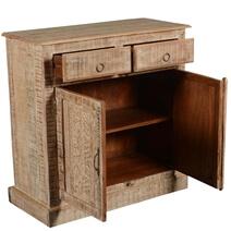 Lanark Handcrafted 2 Drawer Rustic Reclaimed Wood Buffet