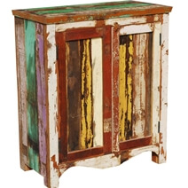Roscoe Distressed Reclaimed Wood Accent Floor Cabinet