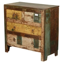 New Memories Rustic Reclaimed Wood Flat Front 4 Drawer Dresser