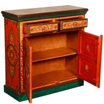 Muncy Fire Garden Hand Painted Mango Wood 2 Drawer Buffet Cabinet