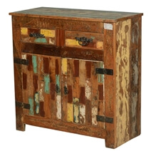 Holden Handcrafted Rustic Reclaimed Wood 2 Drawer Buffet Cabinet