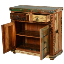 Happy Home Rustic Reclaimed Wood Furniture Sideboard Storage Cabinet