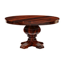 Missouri Solid Wood Round Pedestal Dining Table