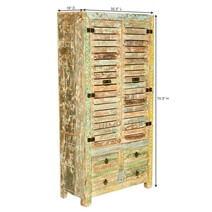 Breese Rustic Solid Reclaimed Wood Armoire With Shelves And Drawers