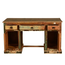 Gothic Reclaimed Solid Wood Home Office Executive Desk