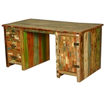 Modern Reclaimed Wood Executive Desk