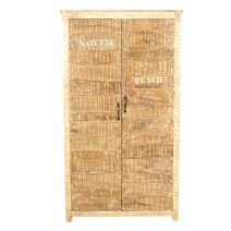 New Orleans Rustic Distressed Solid Wood Wardrobe Armoire With Shelves