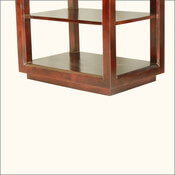 Hamden Contemporary Mango Wood 3 Tier Open Sided End Tables Set of 2