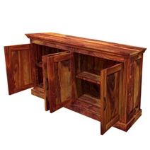 Oklahoma Rustic Solid Wood Large Buffet 2 Cabinet