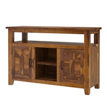 Sierra Nevada Traditional Solid Wood Rustic Buffet Table