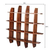 Modern Rustic Acacia Wood 59 Sq Shadow Box Display Wall Frame
