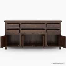 Richmond Spacious Solid Wood 6 Drawer Large Buffet Cabinet