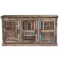 Barwick Rustic Reclaimed Wood 3 Shutter Door Large Buffet Cabinet