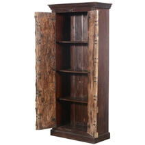 Grayson Solid Mango and Reclaimed Wood Armoire With Shelves