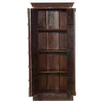 Colfax Solid Mango and Reclaimed Wood Rustic Armoire With Shelves