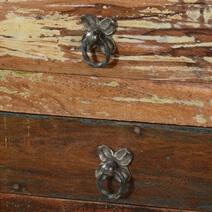 Ashland Rustic Reclaimed Wood 4 Drawer Hallway Console Table