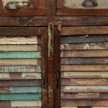 Appalachian Rainbow Shutter Door Reclaimed Wood Rustic Buffet Cabinet