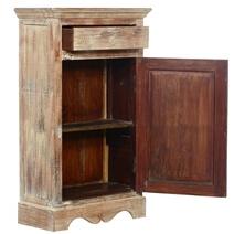 Alston Mango Wood 1 Drawer Single Door Storage Cabinet