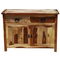 Sierra Natural Solid Wood 2 Drawer Rustic Buffet Cabinet