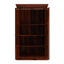 Lincoln Study Handcrafted Solid Wood Wardrobe Armoire With Shelves