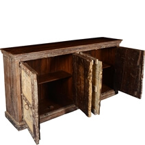 Gothic Dreams Rustic Reclaimed Wood Extra Large Sideboard Cabinet