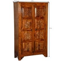 Noma Solid Wood Artisan Standing Double Door Armoire