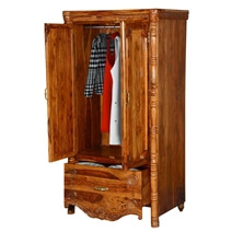 Volusia French Provincial Solid Wood Wardrobe Armoire With Drawer