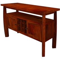 Contemporary Solid Wood Dining Room Bar Buffet Cabinet