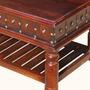 Colonial Dutch Mango Wood 2-Tier Coffee Table