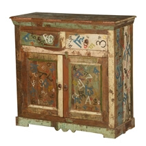 Siloam Pop Art Freestanding 2 Drawer Reclaimed Wood Buffet