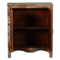 Warren Rustic Reclaimed Wood Double Door Console Hall Cabinet