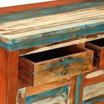 Bartons Rustic Reclaimed Wood Freestanding 2 Drawer Buffet Cabinet