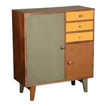 Smyrna 60's Retro Mango Wood 3 Drawer Freestanding Storage Cabinet