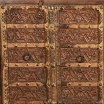 Cachan Flower in Star Reclaimed Wood 4 Door Sideboard Cabinet