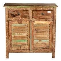 Aberdeen Shutter Door Reclaimed Wood Freestanding Rustic Sideboard