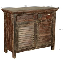 Redmond Rustic Reclaimed Wood 2 Drawer Buffet Storage Cabinet